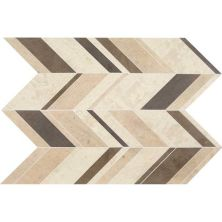Daltile Limestone Collection Fusion Brun Large Chevron (honed) Brown DA18LGCHEVMS1U