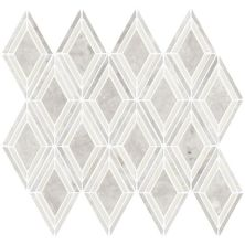 Daltile Stone Decorative Accents Argyle Blend White Mosaic DA21ARGYLEMS1L