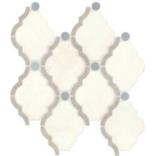 Daltile Stone Decorative Accents Empyrean Ice Blend Framed Baroque Mosaic (polished) White/Cream DA24FRMBARQMS1L