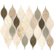 Daltile Stone Decorative Accents Lumia Leaf Beige Mosaic (Polished) DA30LUMIAMS1P