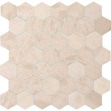 Daltile Limestone Collection Adour Creme Blend 2″ Hex White/Cream L3412HEXMS1P