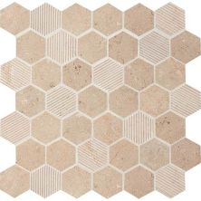 Daltile Limestone Collection Corton Sable Blend 2″ Hex Beige/Taupe L3432HEXMS1P