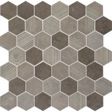 Daltile Limestone Collection Moselle Gris Blend 2″ Hex Gray/Black L3462HEXMS1P