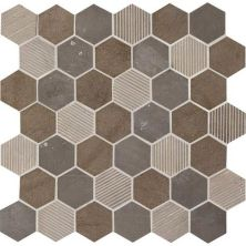 Daltile Limestone Collection Sormonne Brun Blend 2″ Hex L3512HEXMS1P