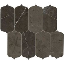 Daltile Marble Collection Antico Scuro Ingot Mosaic (polished) Gray/Black M049INGOTMS1L