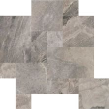 Daltile Marble Collection Tinos Gray Versailles Pattern (leather) Gray/Black M108PATTERN1N