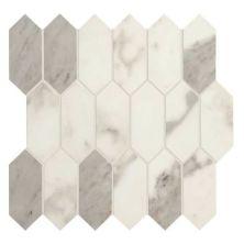 Daltile Marble Attache Calacatta White/Cream MA8725HEXMSMT1P