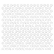 Daltile Retro Rounds Bold White Gloss White RR0111PNYRDMS1P