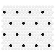 Daltile Retro Rounds Polka Dot Gloss White RR0311PNYRDMS1P