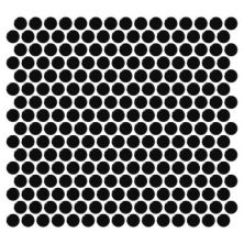 Daltile Retro Rounds Canvas Black Gloss Gray/Black RR1411PNYRDMS1P