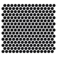 Daltile Retro Rounds Canvas Black Matte Gray/Black RR1511PNYRDMS1P