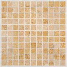 Daltile Travertine Collection Fossil Ridge Cross Cut 1×1 Mosaic (honed) Beige/Taupe T10211MS1U