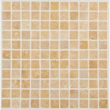 Daltile Travertine Collection Fossil Ridge Cross Cut 1×1 Mosaic (tumbled) Beige/Taupe T10211MSTS1P