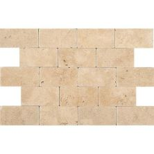 Daltile Travertine Collection Fossil Ridge Cross Cut 3×6 (tumbled) Beige/Taupe T10236TS1P