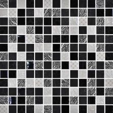 Daltile Uptown Glass Exotic Black Gray/Black UP1211MS1P