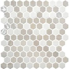 Daltile Uptown Glass Alabaster UP171HEXMS1P