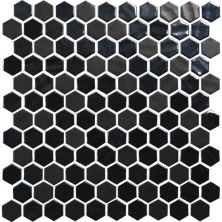 Daltile Uptown Glass Ebony UP191HEXMS1P