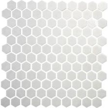 Daltile Uptown Glass Matte Alabaster UP201HEXMS1P