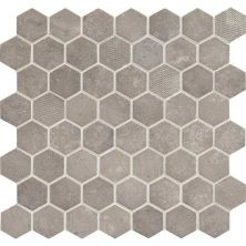 Daltile Vintage Hex Artifact Gray Gray/Black VH0715HEXSWATCH