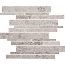 Daltile Limestone Collection Siberian Tundra Random Linear Mosaic Honed Gray/Black L701RDMMS1U