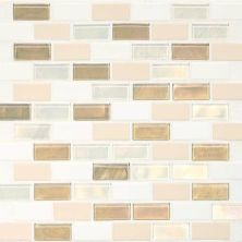 Daltile Coastal Keystones Coconut Beach 2 X 1 Brickjoint Mosaic White/Cream CK8521BJPM1P
