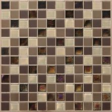 Daltile Coastal Keystones Treasure Island Blend 1 X 1 Mosaic Brown CK9011PM1P
