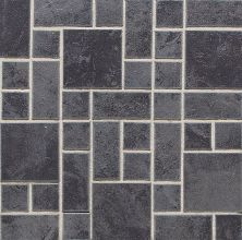 Daltile Continental Slate Asian Black Random Block Mosaic Gray/Black CS53BLRANDMS1P