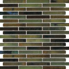Daltile Fashion Accents Illumini Meadow 5/8 X 3 Random Mosaic Green F014583MS1P