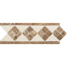 Daltile Fashion Accents 135 Almond Noce 4 X 12 Tumbled Stone Listello Beige/Taupe FA52412LIST1P