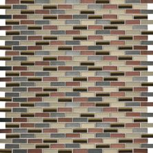 Daltile Fashion Accents Copper Blend 12 x 12 Sheet Brix Mosaic FA631212BMS1P