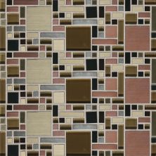 Daltile Fashion Accents Copper Blend 12 x 12 Sheet Fortress Mosaic FA631212MGMS1P