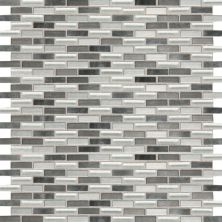 Daltile Fashion Accents Nickel Blend 12 X 12 Sheet Brix Mosaic Gray/Black FA641212BMS1P