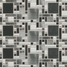 Daltile Fashion Accents Nickel Blend 12 X 12 Sheet Fortress Mosaic Gray/Black FA641212MGMS1P