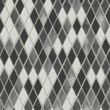 Daltile Fashion Accents Nickel Blend 12 X 12 Sheet Harlequin Mosaic Gray/Black FA6411HARMS1P