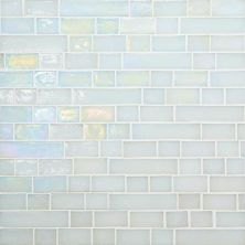 Daltile Glass Horizons Waves Random Linear Mosaic White/Cream GH0134RANDPM1P