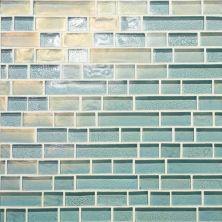 Daltile Glass Horizons Sky Blue Random Linear Mosaic Blue GH0334RANDPM1P