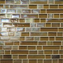Daltile Glass Horizons Driftwood Random Linear Mosaic Brown GH0634RANDPM1P