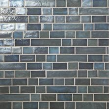 Daltile Glass Horizons Moonlight Random Linear Mosaic Gray/Black GH0734RANDPM1P