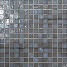 Daltile Glass Horizons Moonlight Mosaic Gray/Black GH073434PM1P