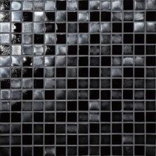 Daltile Glass Horizons Black Sand Mosaic Gray/Black GH093434PM1P
