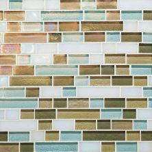 Daltile Glass Horizons Caribbean Blend Random Linear Mosaic Blue GH1034RANDPM1P