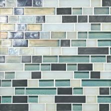 Daltile Glass Horizons Atlantic Blend Random Linear Mosaic Blue GH1134RANDPM1P