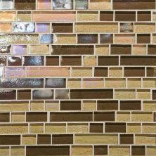 Daltile Glass Horizons Caspian Blend Random Linear Mosaic Brown GH1334RANDPM1P