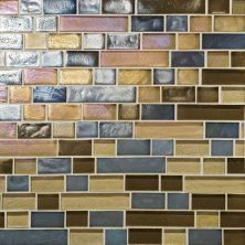 Daltile Glass Horizons Pacific Blend Random Linear Mosaic Brown GH1434RANDPM1P