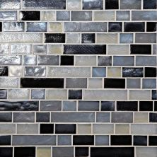 Daltile Glass Horizons Baltic Blend Random Linear Mosaic Gray/Black GH1634RANDPM1P