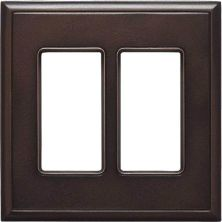 Daltile Ion Metals Antique Bronze Double GFCI IM01DG1P