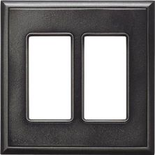 Daltile Ion Metals Antique Nickel Double GFCI IM02DG1P