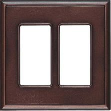 Daltile Ion Metals Oil Rubbed Bronze Double GFCI IM03DG1P