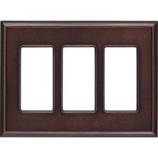 Daltile Ion Metals Oil Rubbed Bronze Triple GFCI IM03TG1P