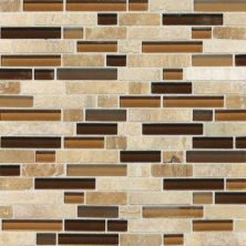 Daltile Stone Radiance Caramel Travertino Random Mosaic Blend SA5858RANDMS1P